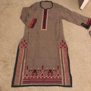 Nwt limelight embroidered Pakistani Indian dress